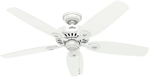Hunter Indoor Ceiling Fan, with pull chain control – Builder Elite 52 inch, White, 53240