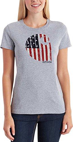 バンド磨かれた同情的カーハート トップス シャツ Carhartt Women's Lubbock Graphic America HeatherGra [並行輸入品]