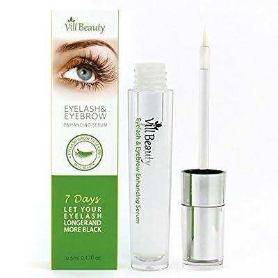 2018 Upgraded Eyelash Growth Serum, Eyebrow Growth Serum, Best Lash & Brow Growth Serum Give You Longer Thicker Looking Eyelashes & Eyebrows! Doctor Recommended Eyelash Growth & Regrowth Serum