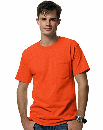 Hanes mens BeefyT 100% Cotton TShirt with Pocket(5190)-Orange-XL (Top Gear Us Season 1 compare prices)