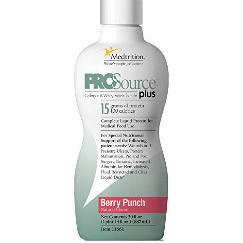 Medtrition Plus Berry Punch Bottle: Concentrated Liquid Protein. 15 Grams of Protein per 1 fl. oz.