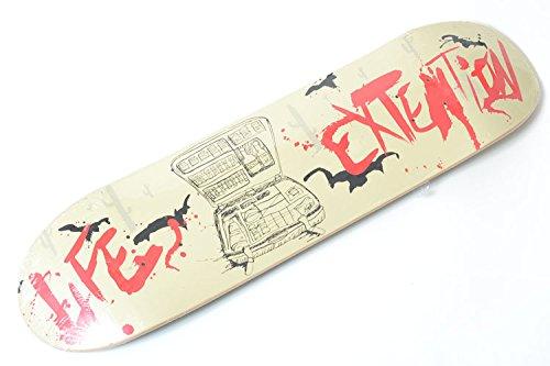ピアニスト乞食オピエートUSsize8.07インチ(20.5cm)×長さ80.5cm LIFE EXTENTION Skateboard Deck ライフエクステンション スケートボード デッキ グリーン×ベージュ