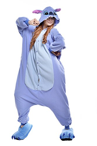 Lilo Dress For Adults (NEWCOSPLAY Adult Anime Unisex Pyjamas Halloween Onesie Costume (S, Blue)