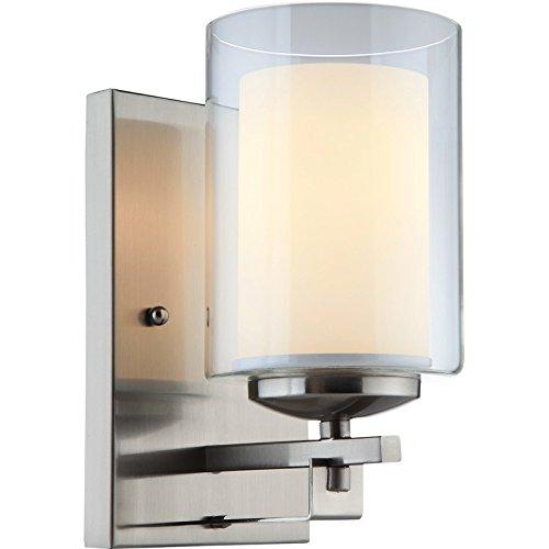 Satin Nickel Porch Lights in US - 5