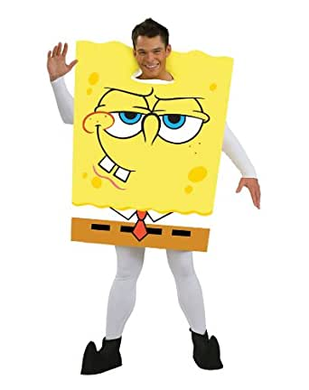 amazoncom spongebob squarepants adult costume clothing