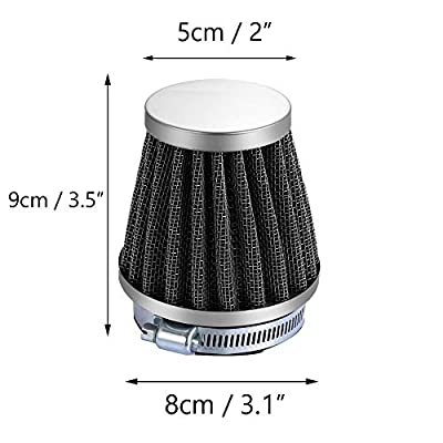 ESUPPORT 38mm Mini Cone Cold Air Intake Filter Turbo Vent Clean Fresh Car Motorcycle: Automotive
