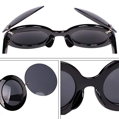 soleil Des Couleur Big Round Box Lunettes Show Soleil de Femme Personality Funny E Flip de Sport A lunettes rUnwYqZEU