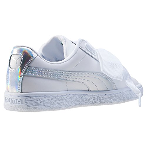Mode Femme Safari Basket Suede Heart metallic Puma White 6HOIqO