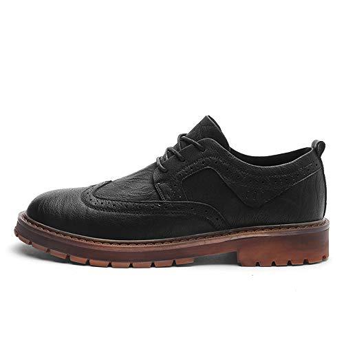 Brogue Chaussures Noir Classique Men Lacets Eu 40 Casual color À Et Homme Bottes Sculpture Taille 2018 Oxford Rétro Boots Marron x81SHqw0n