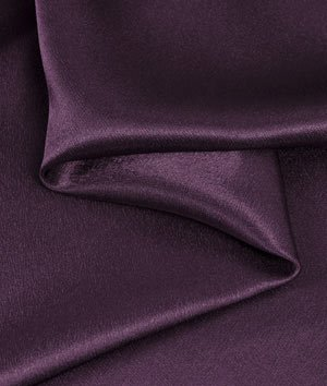 Plum Crepe Back Satin Fabric - by the Yard