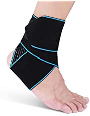 AVIDDA Ankle Brace For Men Women - Adjustable Compression Ankle Support Wrap Strap For Sports Protect, Plantar Fasciitis, Achilles Tendonitis, Ligament Damage, Injury Recovery