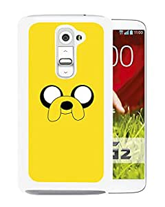 Beautiful Designed Cover Case For LG G2 With Adventure Time 2 White Phone Case