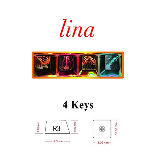 FidgetGear Dota2 Hero Skill Key Cap Backlight keycaps Cherry mx OEM Keys Invoker Assassin Lina 4Keys