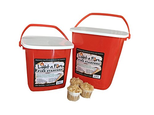 Light-A-Fire 24 Pods Natural Starter (Bucket Wood Fire)