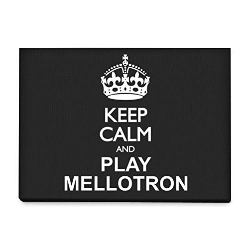 Mellotron Instruments - Idakoos - Keep Calm and Play Mellotron - Instruments - Canvas Wall