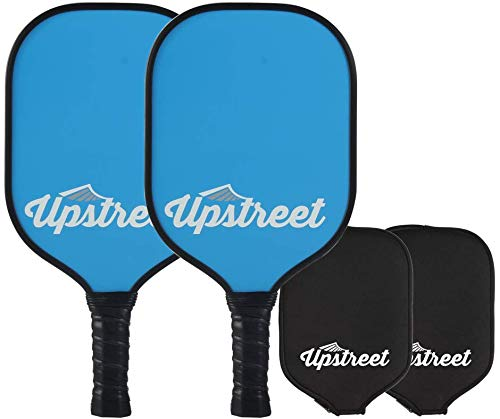 - Upstreet Graphite Pickleball Paddle Set - Polypro Honeycomb Composite Core - Paddles Include Racket Cover