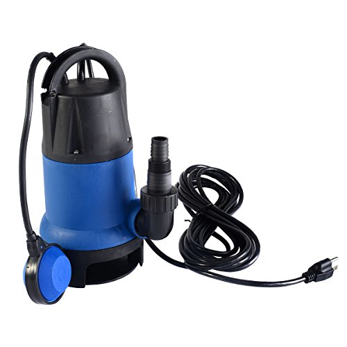 Goplus 1/2 HP 2000GPH Submersible Dirty Clean Water Pump Flooding Pond Swimming Pool ()