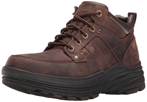 Skechers Men's Holdren Lender Chukka Boot,Dark Brown,9 M US