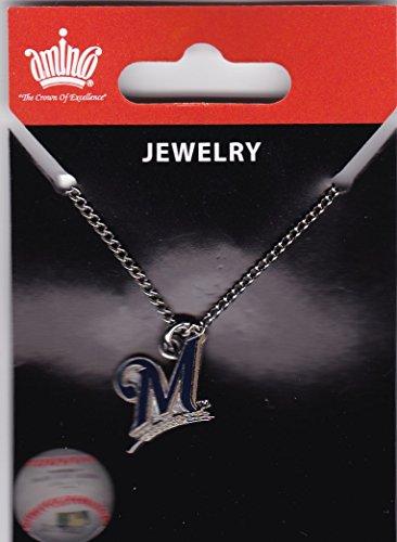 - MLB Milwaukee Brewers Logo Pendant Necklace