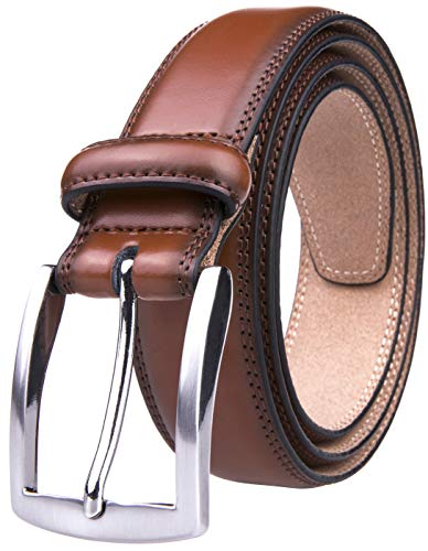 Jeans Men Belt (30, Brown) (30 Brown Leather Belt)