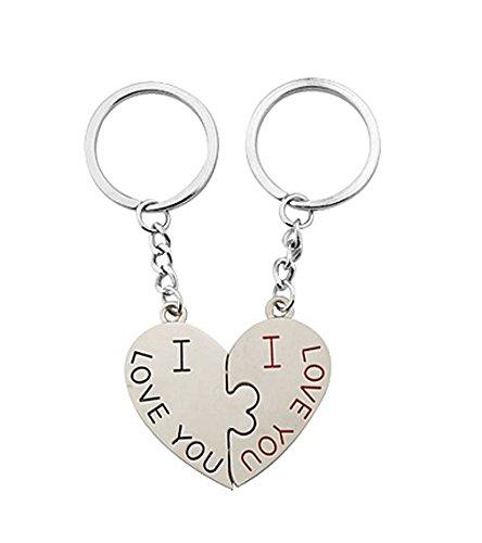 Click Down I Love You Cute Couple Keychain Love Keychain Key Ring
