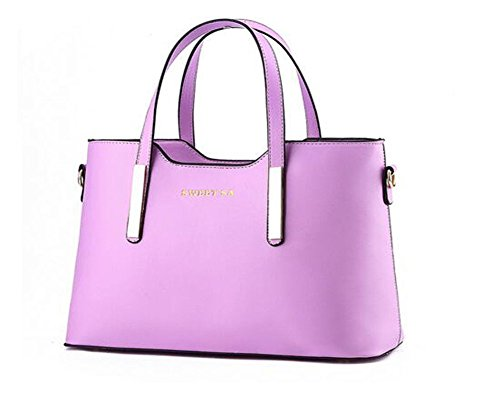 Winter-New QCKJ Lorenz-Borsa a tracolla da donna in stile europeo, in ecopelle, colore: viola