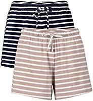 Genuwin Pajama Shorts for Women 2 Pack Sleep Shorts for Women Lounge Shorts Women Sleep Shorts S~XL