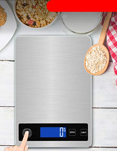2020 Upgraded 22lb Food Scale,0.035 oz Precise Graduation,Digital Kitchen Scale Stainless Steel Multifunction Scale with LCD Display for Baking and Cooking