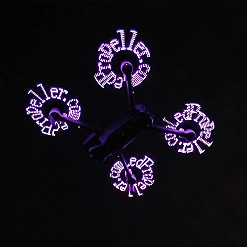 Drone Propellers 2 Pairs Programmable LED Flash Word Propeller 8743 for DJI Mavic 2 Pro/ Zoom DIY (A) by Tronet RC Drone (Image #6)
