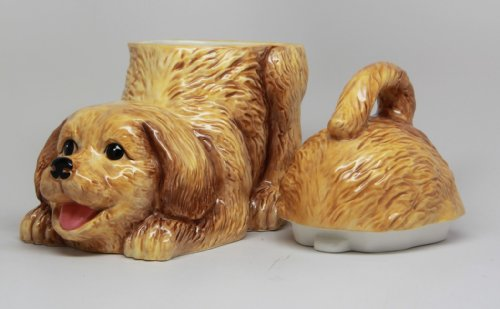 PTC Playful Golden Retriever Ceramic Cookie Jar Statue Figurine, 8