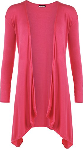 WearAll -  Cardigan  - Donna rosa rosso
