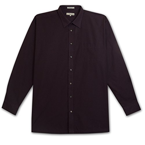 Foxfire Tall Mens Long Sleeve Easy Care 1 Pocket Shirt (WINE 3X-T)
