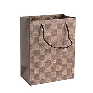 Amazon.com: Juego de 12 bolsas de regalo a cuadros, 9.0 x ...