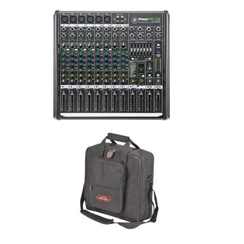 Vlz 1604 Mackie Pro - Mackie PROFX12v2 12 Ch. Compact Mixer w Effects and USB+SKB Universal Mixer Bag
