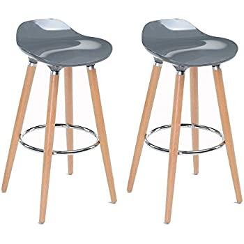 WOHOMO Stylish Modern Bar Stools Counter Height Barstools for Home Bar Kitchen Gray Color  sc 1 st  Amazon.com & Amazon.com: WOHOMO Stylish Modern Bar Stools Counter Height ... islam-shia.org