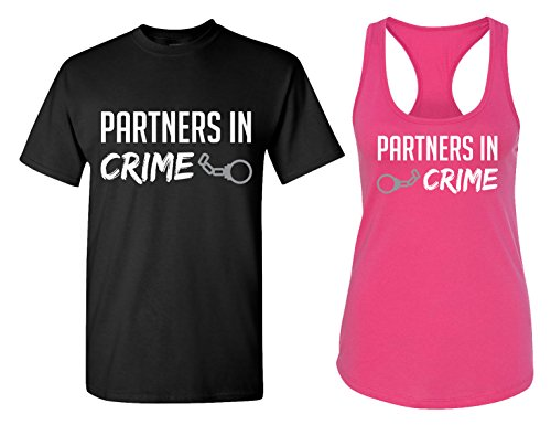 Partners in Crime Matching Couple T Shirts -