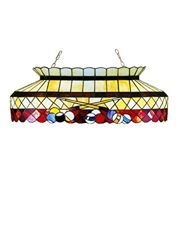 32 Inch L Burgundy Billiard Oblong Pendant , Ceiling Fixture , Meyda (Billiard Oblong Pendant)