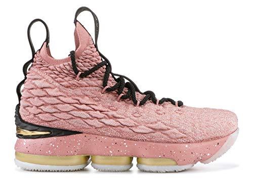 (Nike Kid's Lebron XV LMTD GS, Rust Pink/Metallic Gold-Black, Youth Size 6 )