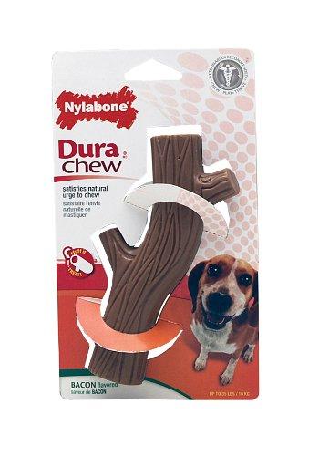 Dura Chew Bacon (Nylabone Dura Chew Wolf Bacon Flavored Hollow Stick Bone Dog Chew)