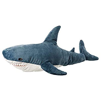 AFYBL 39.4 inch Shark Giant Stuffed Animal Toy, Wildlife, Soft Polyester Fabric, Beautiful Shark Markings, Handcrafted Kids Huggable Pillow for Pretend Play, Travel, Nap Time: Toys & Games [5Bkhe0303277]