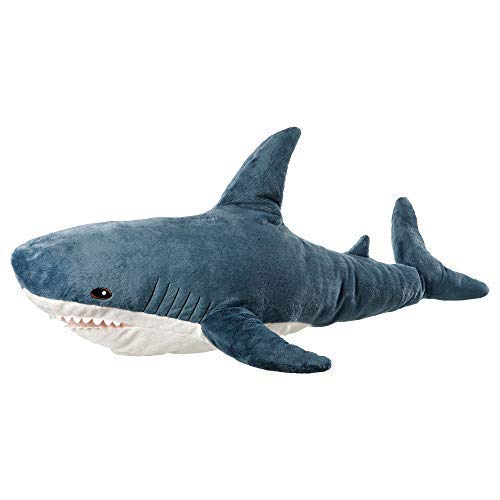 AFYBL 39.4 inch Shark Giant Stuffed Animal Toy, Wildlife, Soft Polyester Fabric, Beautiful Shark Markings, Handcrafted Kids Huggable Pillow for Pretend Play, Travel, Nap Time ()