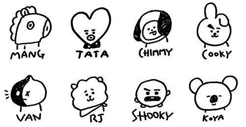 Amazon.com: KPOP Cute Cartoon BTS BT21 Plush Doll Toy Bangtan Boys Throw Pillow Cushion 17.7
