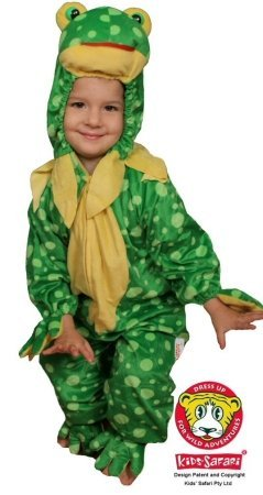 Safari Plush Costume Frog- Large