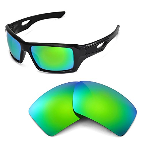 ce1287ddad7 Galleon - Walleva Replacement Lenses For Oakley Eyepatch 2 Sunglasses -  Multiple Options Available (Emerald Mirror Coated - Polarized)