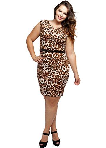 junior animal print dresses - 1