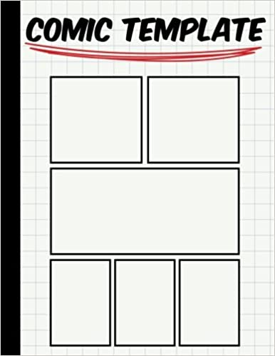 Comic Template Large Print X Stagged  Panal  Drawing Or