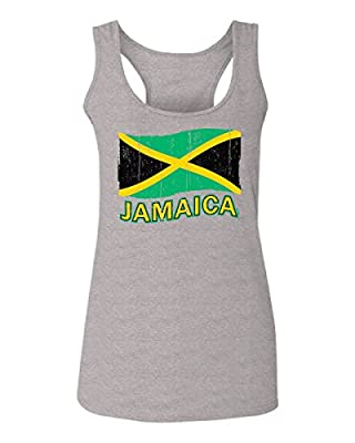 Jamaica Tee Jamaican National Country Flag Tee Carribean Women's Tank Top Sleeveless Racerback