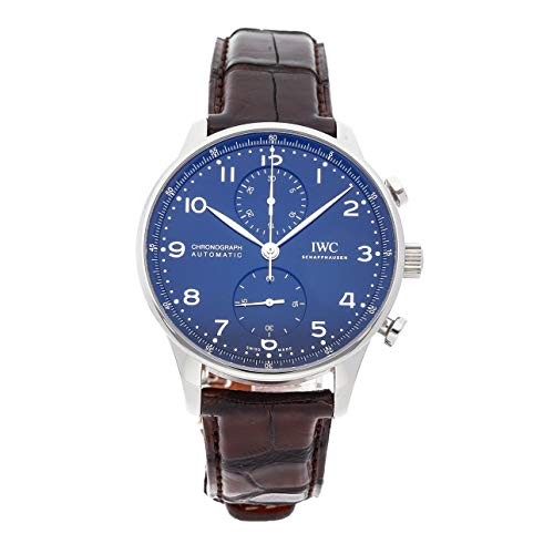 - IWC Portugieser Mechanical (Automatic) Blue Dial Mens Watch IW3716-01 (Certified Pre-Owned)