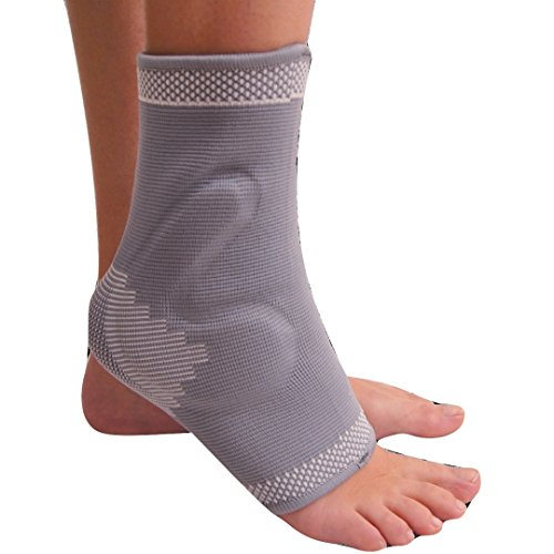 Achilles Tendon Heel Pain - MEDIZED Ankle Brace with GEL PAD Compression Support Sleeve for Athletics, Injury Recovery, Joint Pain. Plantar Fasciitis, Eases Swelling, Heel Spurs, Achilles tendon (Small)