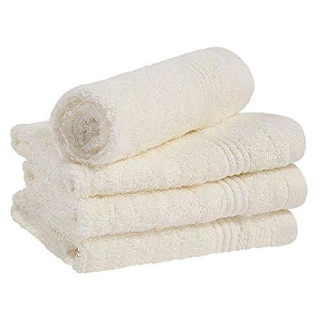 Linens Limited - Simplicity - Toalla para la cara - 100 % algodón egipcio (450 g/m²) - Champán - 30 x 30 cm: Amazon.es: Hogar